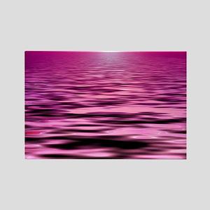 pink ocean sunset Rectangle Magnet