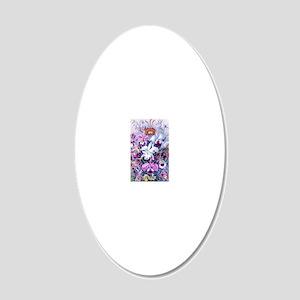 Cattleya, Lady Slipper Orchi 20x12 Oval Wall Decal