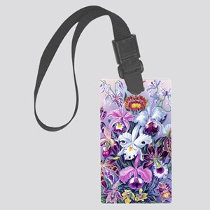 Cattleya, Lady Slipper Orchids 3 Large Luggage Tag