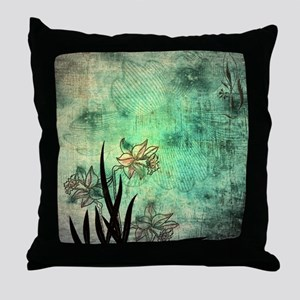 Oriental Lilies Throw Pillow