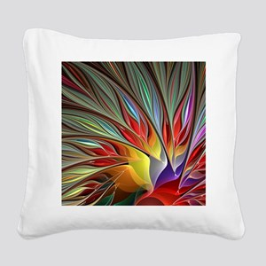 Fractal Bird of Paradise for  Square Canvas Pillow