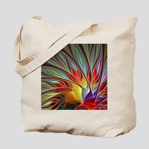 Fractal Bird of Paradise for All Over Shi Tote Bag