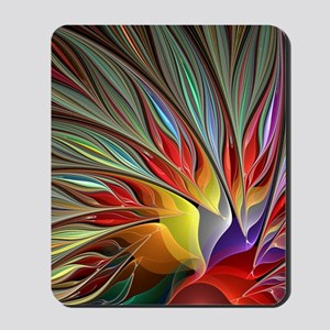 Fractal Bird of Paradise for All Over Sh Mousepad