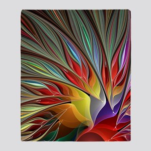 Fractal Bird of Paradise for All Ove Throw Blanket 10e544c3c