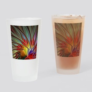 Fractal Bird of Paradise for All Ov Drinking Glass