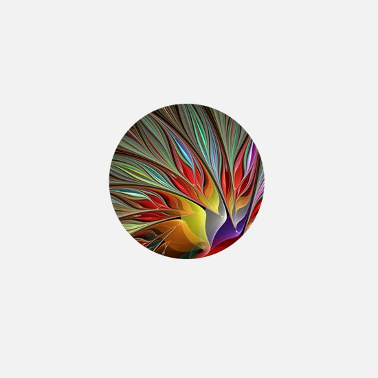 Fractal Bird of Paradise for All Over  Mini Button