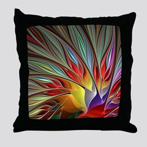 Fractal Bird of Paradise for All Over Throw Pillow