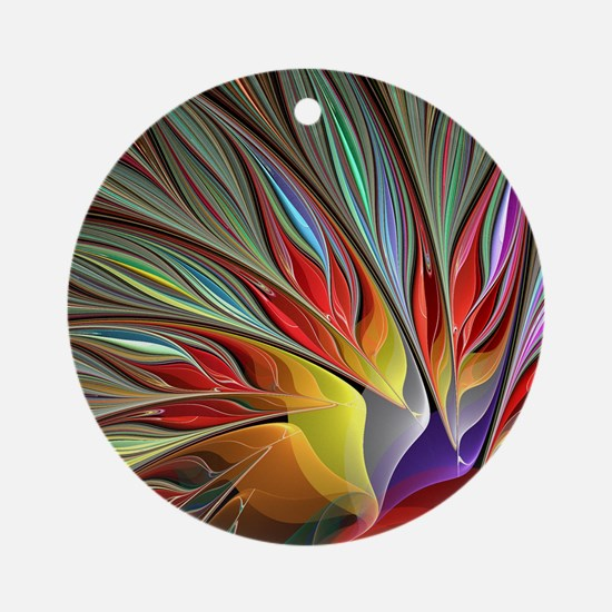 Fractal Bird of Paradise for All Ov Round Ornament