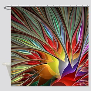 Fractal Bird Of Paradise For All Ov Shower Curtain