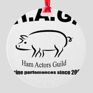 Ham Actors Guild  Round Ornament