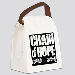 Chain of Hope Logo B&W Canvas Lunch Bag
