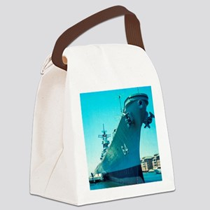 USS Wisconsin Canvas Lunch Bag