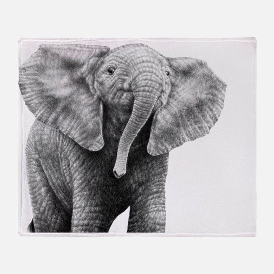 Baby African Elephant 5x7 Rug Throw Blanket