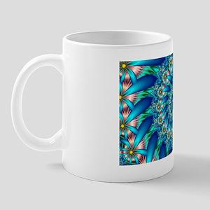 Fractal Flower Spiral Mug
