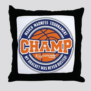MarchMadnessChamp Throw Pillow