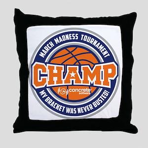 MarchMadnessChamp Throw Pillow