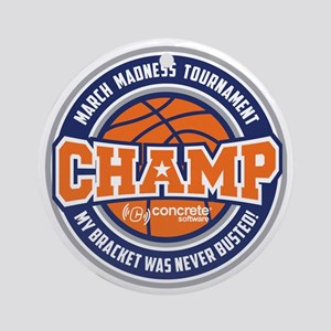 MarchMadnessChamp Round Ornament