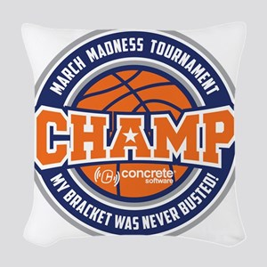 MarchMadnessChamp Woven Throw Pillow