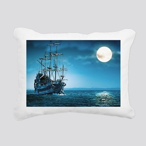 Pirate Ship Rectangular Canvas Pillow