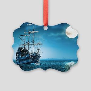 Pirate Ship Picture Ornament