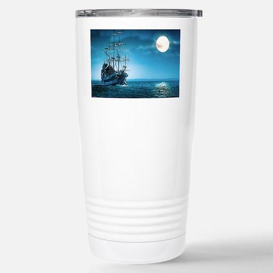 Pirate Ship Stainless Steel Travel Mug