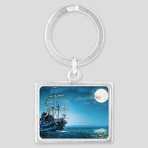 Pirate Ship Landscape Keychain