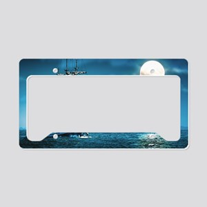 Pirate Ship License Plate Holder