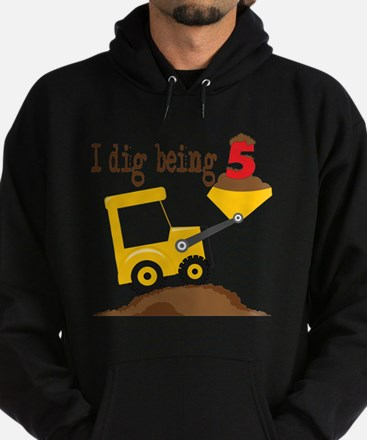 I Dig Being 5 Hoodie (dark)