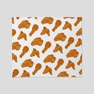 Fried Chicken Throw Blanket