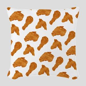 Fried Chicken Woven Throw Pillow