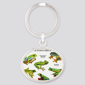 Endangered Tree Frogs of Costa Rica Oval Keychain