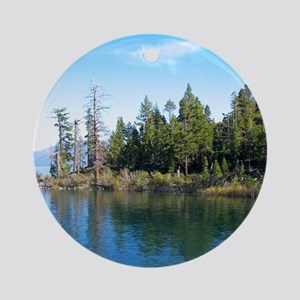 Eagle Point-Emerald Bay,Lake Tahoe Round Ornament