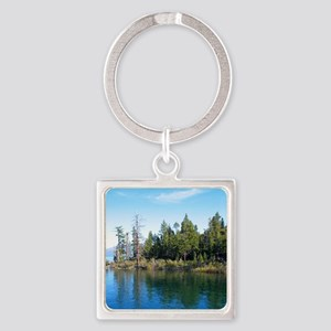 Eagle Point-Emerald Bay,Lake Tahoe Square Keychain