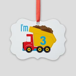 Dump Truck Im 3 Picture Ornament