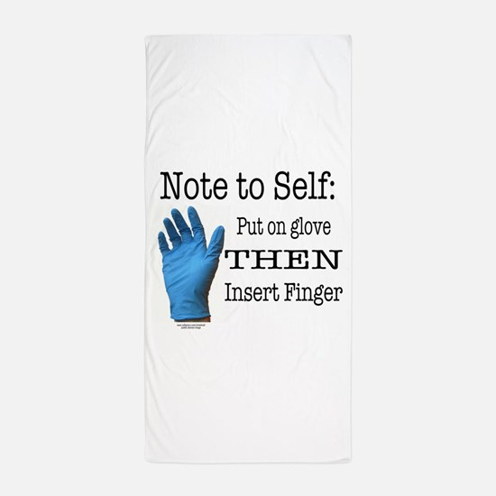 Note to Self Beach Towel