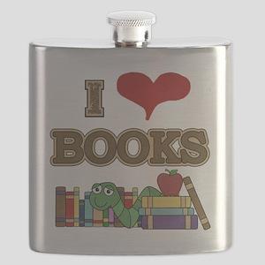 I Love Books Flask