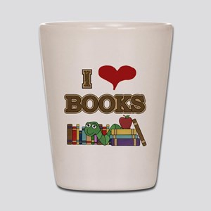 I Love Books Shot Glass