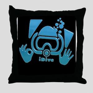 idive OK blue iphone Throw Pillow