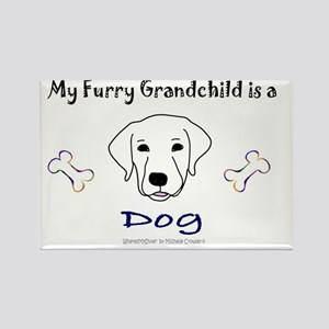 my furry grandchild - more breeds Rectangle Magnet