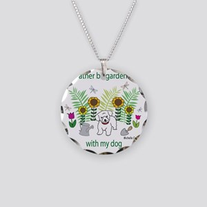 gardening with my   -many do Necklace Circle Charm
