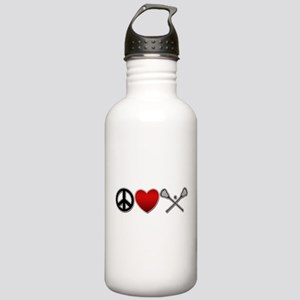 Peace Love Play Lacrosse Stainless Water Bottle 1.