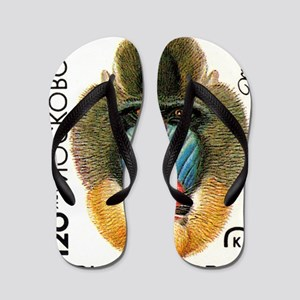 Vintage 1984 Moscow Zoo Mandrill Postag Flip Flops