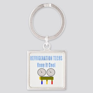 Refrigeration techs keep it cool Square Keychain