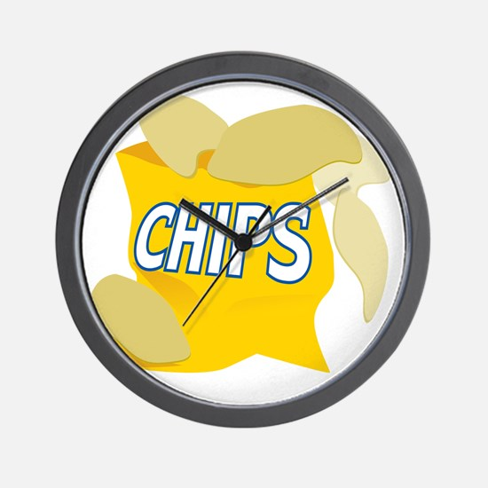 bag of potato chips Wall Clock
