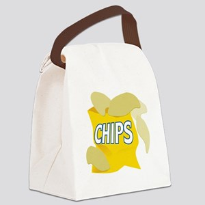 bag of potato chips Canvas Lunch Bag