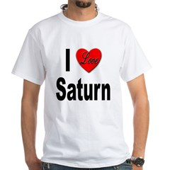 I Love Saturn White T-Shirt