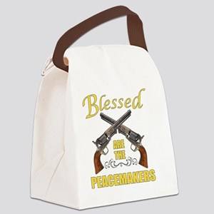 Blessed Are The Peacekeepers Canvas Lunch Bag
