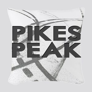 Pikes Peak  2800 x 2800 copy Woven Throw Pillow