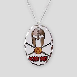 Spartan Molon Labe Necklace Oval Charm