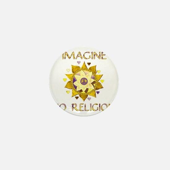 Imagine No Religion Mini Button